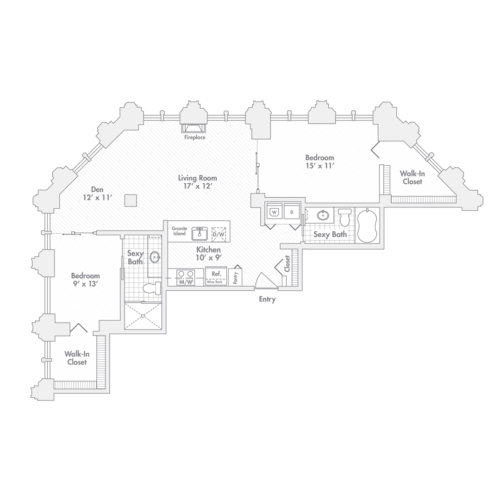 Penthouse – Two Bedroom, Two Bath (C5)